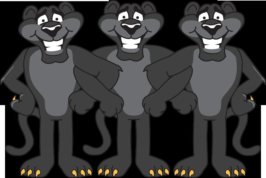 Cartoon Panther Mascots